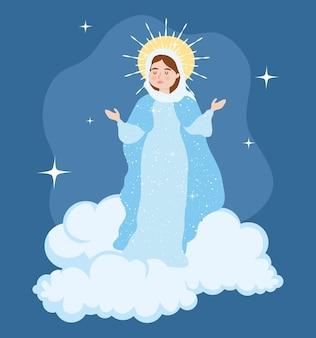 聖母被昇天イラストデザイン