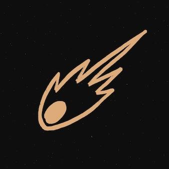 Adesivo doodle galassia asteroide oro per bambini