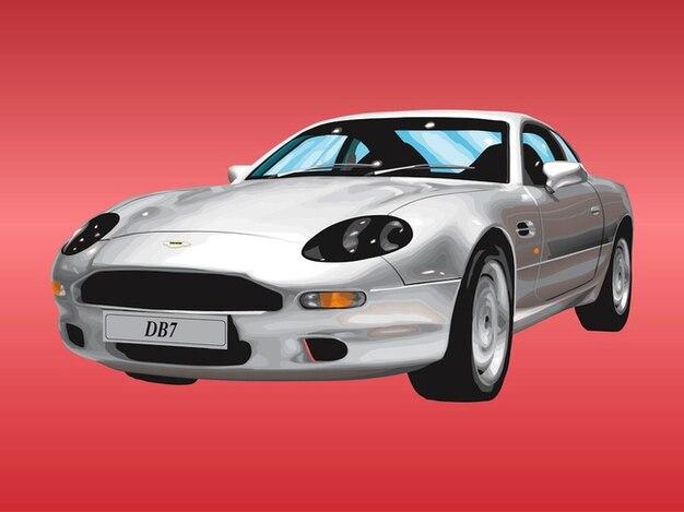 Aston martin automobile car vector