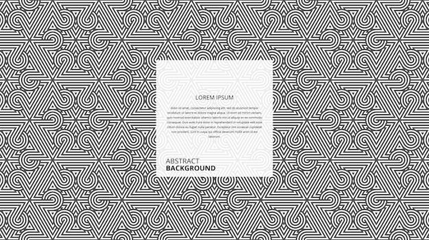 Astract 장식 삼각형 원형 모양 라인 패턴