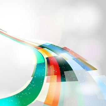 鮮やかな色の形のデザインの背景を引き付ける