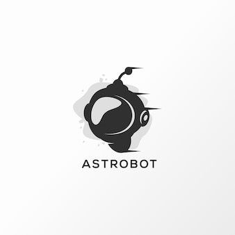 Astrobot logo design vector illustration ready to use