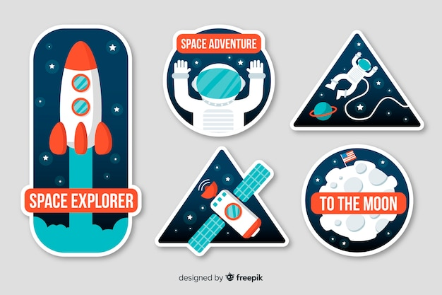 Astrological space sticker collection