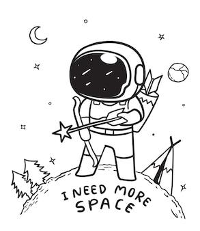 Космонавт стрельба из лука в космосе