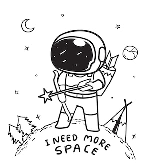 Astronaut archery in space