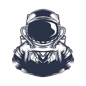 Astronaut artwork illustration