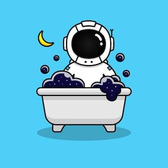 Astronaut in the bathtub