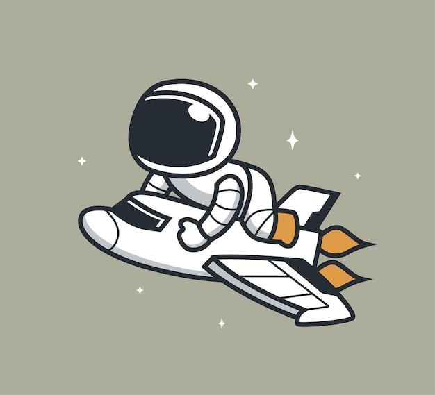 宇宙船に搭乗する宇宙飛行士