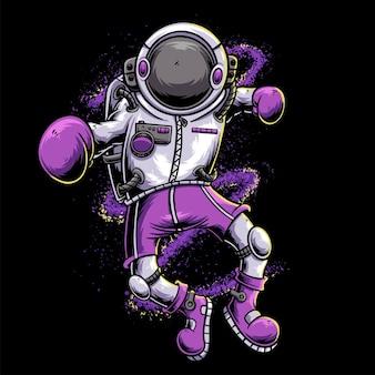 Astronaut boxing