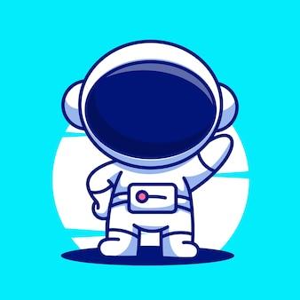 宇宙飛行士少年漫画ベクトルアイコンイラスト