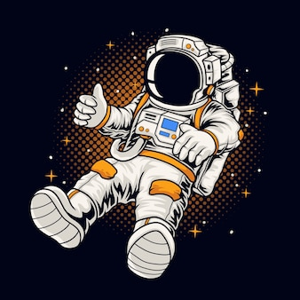 Astronaut boy illustration