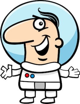 우주 비행사 만화 일러스트 레이션