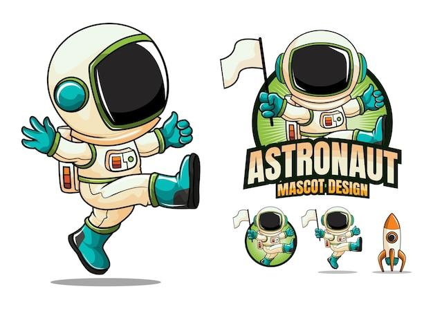 Иллюстрация талисмана персонажа космонавта