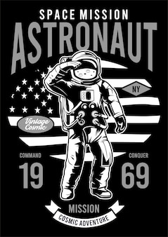 Astronaut design illustration