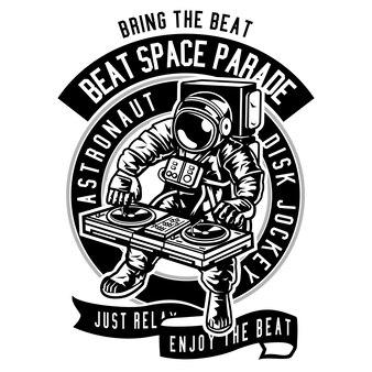 Astronaut disk jockey