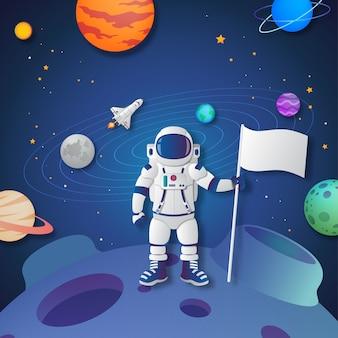 宇宙飛行士は新しい惑星を探索しました