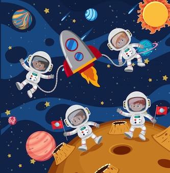 Космонавт, исследующий пространство