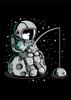 Astronaut fishing