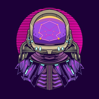 Astronaut geometry   illustration design