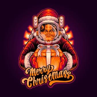 宇宙飛行士がエイリアンにクリスマスプレゼントを贈る