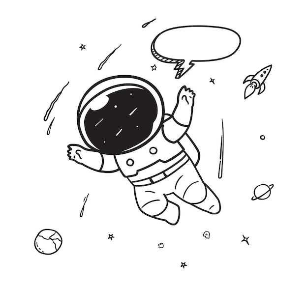 Astronaut gliding from space