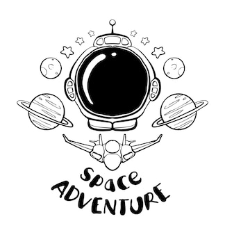 Astronaut hand drawn