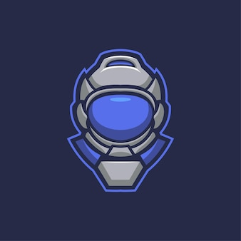 Astronaut head cartoon logo template illustration. esport logo gaming premium vector head cartoon logo template illustration. esport logo gaming premium vector