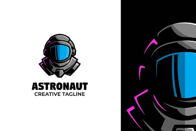 우주 비행사 머리 마스코트 로고 캐릭터