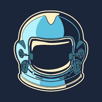 宇宙飛行士のヘルメットデザインオブジェクト
