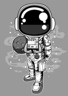 Astronaut holding the moon
