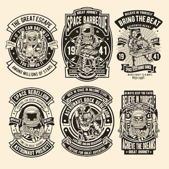 Astronaut illustration design