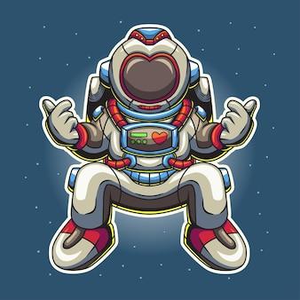 우주 비행사 그림