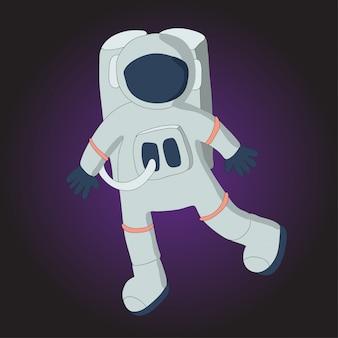 宇宙服を着た宇宙飛行士。図。