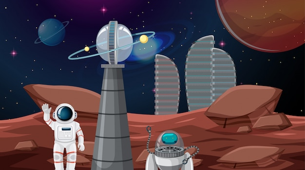 宇宙都市の宇宙飛行士