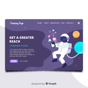 Astronaut Landing Page