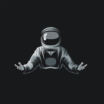 Астронавт логотип иллюстрационная