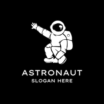 宇宙飛行士のロゴのイラスト