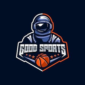 Astronaut logo vector