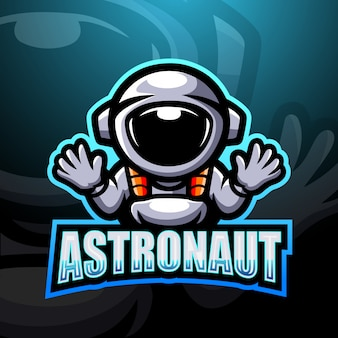 Astronaut mascot esport logo illustration