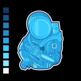 宇宙飛行士のマスコットイラスト
