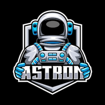 Astronaut mascot logo for esports and sports team