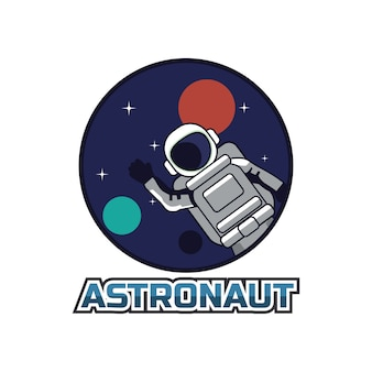 Astronaut mascot logo.