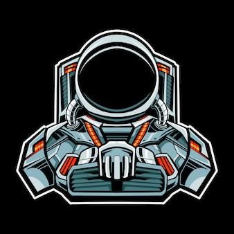 Astronaut mecha robot   illustration character
