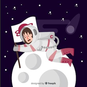 Astronauta sullo sfondo della luna