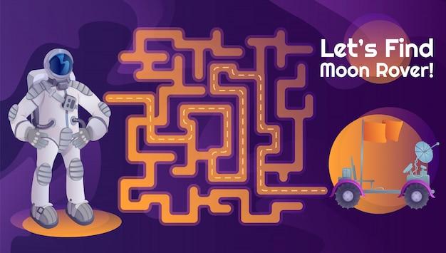 Astronaut moon rover labyrinth