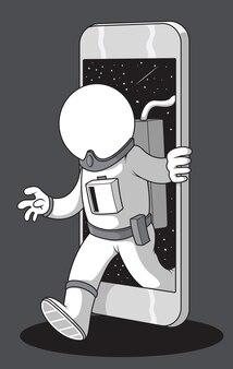 Телефон космонавта. концепция дизайна разведки