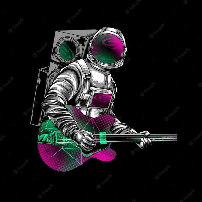 Van Astronaut Moon Adventure Illustration