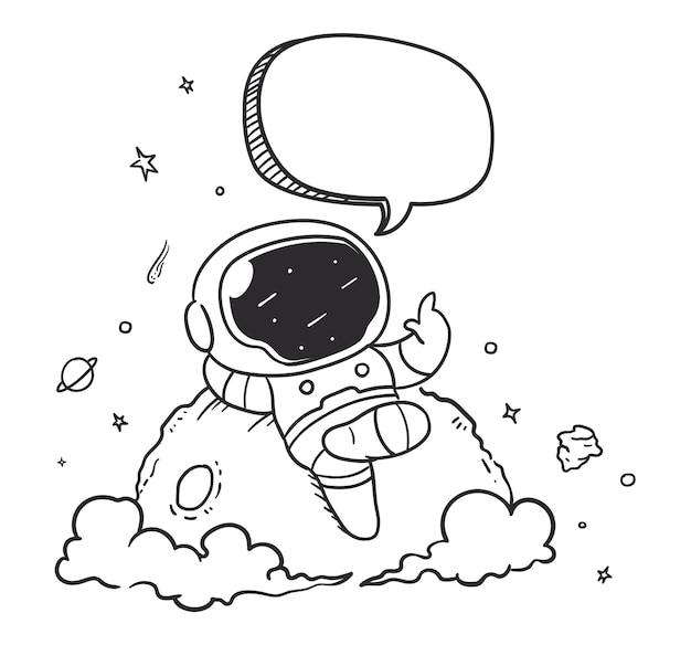 Astronaut relaxing in space