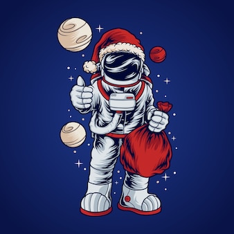 Космонавт санта