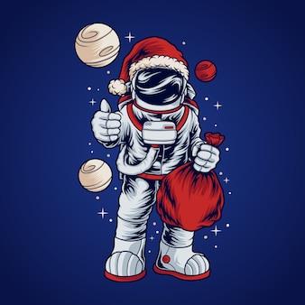 Astronaut santa